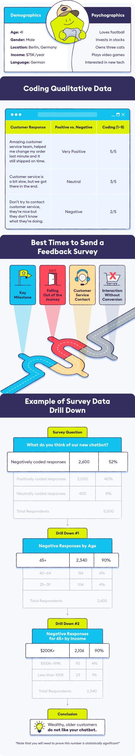 Customer survey data analysis Infographic Image