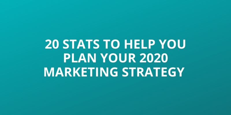 20 Stats to Help You Plan Your 2020 Marketing Strategy Image