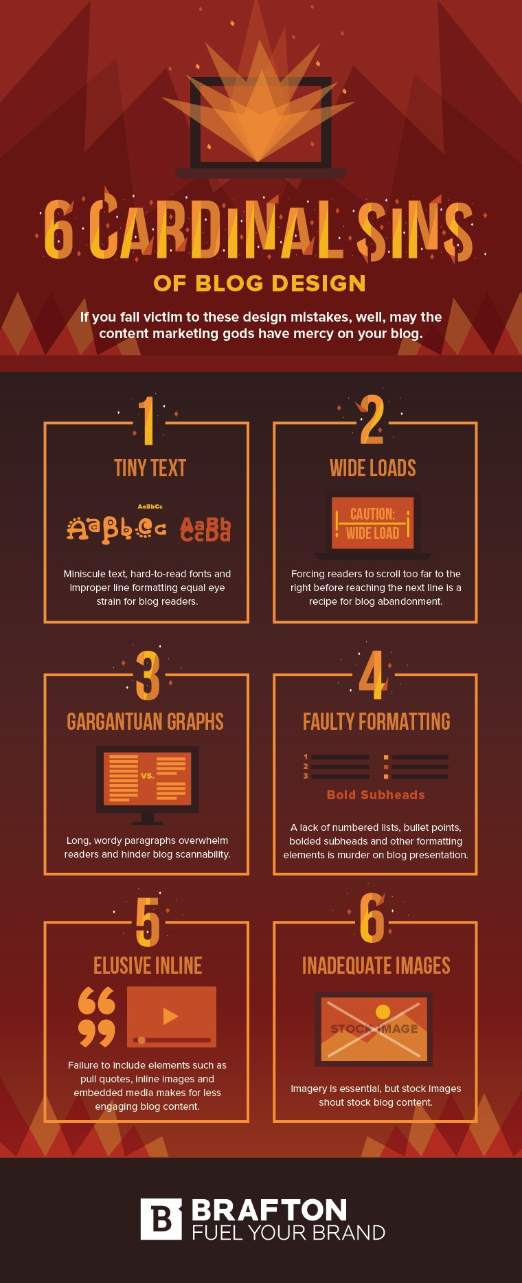 6 Blog Design Mistakes Ruining Your Content Marketing Strategy Infographic Image