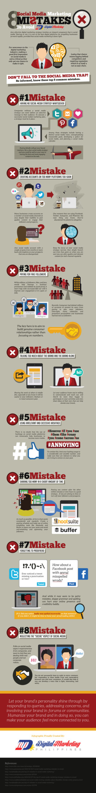 8 Social Media Marketing Mistakes to Avoid Infographic Image